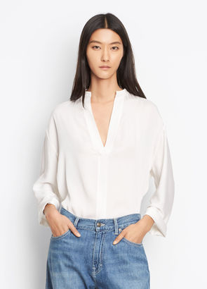 Split Neck Blouse $320 thestylecure.com