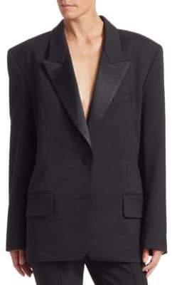 Alexander Wang Women's Safety Pin Heart Tuxedo Blazer - Black - Size 6