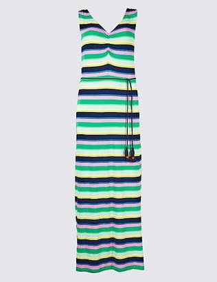 M&S Collection Striped Slip Maxi Dress