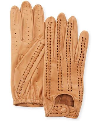 Portolano Woven Napa Leather Driving Gloves