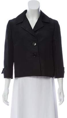 Alberta Ferretti Lightweight Button-Up Blazer