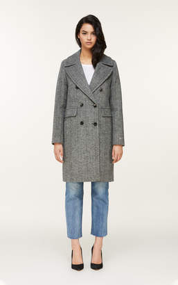Soia & Kyo EVETTE double-breasted herringbone wool coat