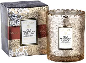 Voluspa Gilt Pomander & Hinoki Boxed Candle