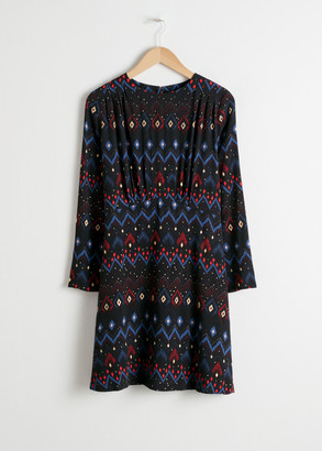 And other stories Ruched Mini Dress