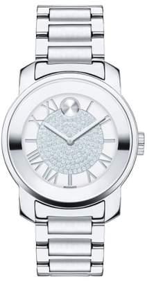 Movado 'Bold' Crystal Dial Bracelet Watch, 32mm