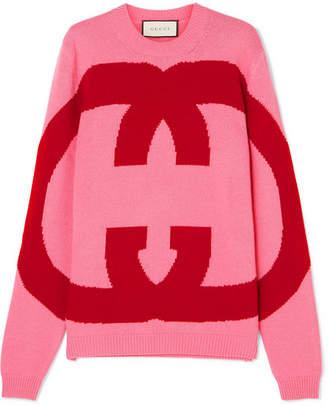 Gucci Intarsia Wool Sweater - Pink