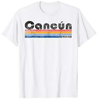 Vintage 1980s Style Cancun Mexico T-Shirt