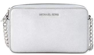 Michael Kors Jet Set Travel Silver Leather Shoulder Bag