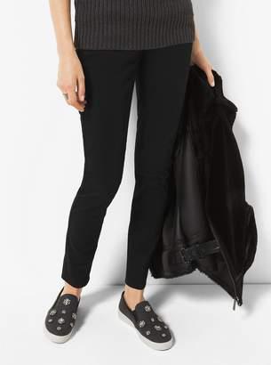 MICHAEL Michael Kors Keaton Crystal-Encrusted Flannel Slip-On Sneaker