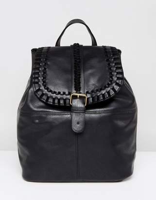 Liquorish Plait Detail Backpack