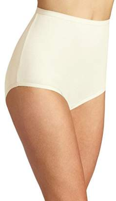 Vanity Fair Women's Perfectly Yours Tailored Cotton Brief Panty $10 thestylecure.com