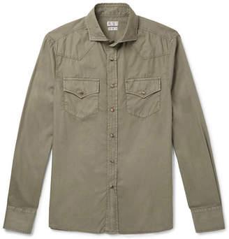 Brunello Cucinelli Cutaway-Collar Cotton Shirt