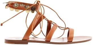 Christian Dior Camel Leather Sandals