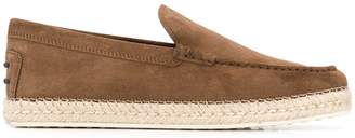 Tod's classic espadrille loafers