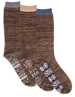 Muk Luks Men's Marled Crew Socks Pack (3 Pairs) 8 x 3.25