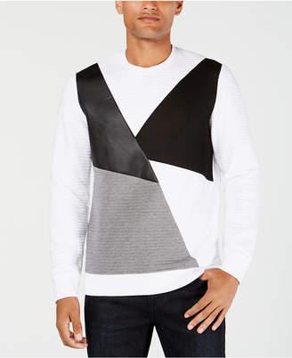 INC International Concepts I.n.c. Men's Colorblocked Mixed Media Sweater