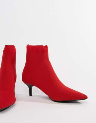 Pull&Bear kitten heel sock boot
