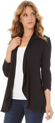 Apt. 9 Petite Ruched Sleeve Open-Front Cardigan