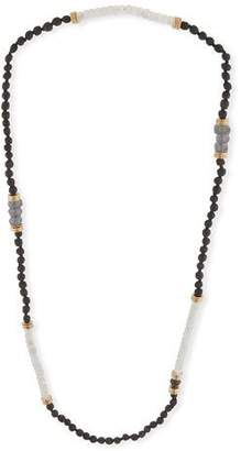 Akola Long Moonstone Beaded Necklace