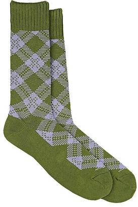 Barneys New York Men's Diamond-Pattern Cotton-Blend Trouser Socks $45 thestylecure.com