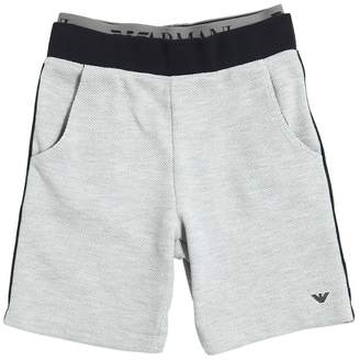 Armani Junior Cotton Piqué Shorts