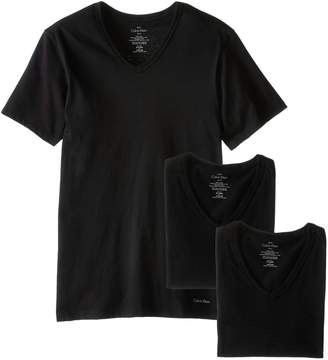 Calvin Klein Men's 3-Pack Cotton Classics Slim Fit V-Neck T-Shirt