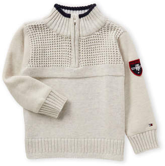 Tommy Hilfiger Toddler Boys) Quarter-Zip Mock Neck Sweater
