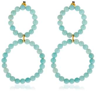 Saskia Diez Holiday Amazonite Earrings