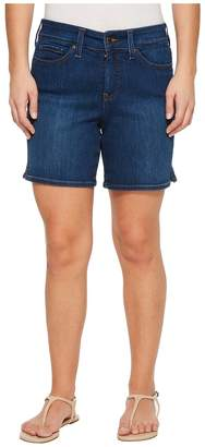 NYDJ Petite Petite Jenna Shorts w/ Mini Side Slit in Cooper in Cooper Women's Shorts