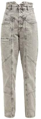 e7685245669 Isabel Marant Roger High Rise Panelled Jeans - Womens - Grey