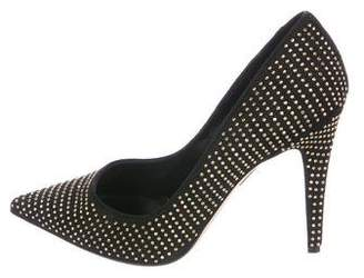 Tamara Mellon Studded Suede Pumps