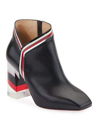 Christian Louboutin Raniboot 85 Plexi-Heel Red Sole Booties