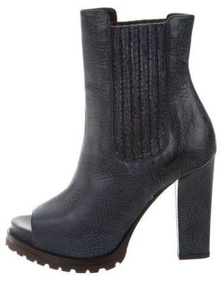 clearance purchase low shipping for sale Brunello Cucinelli Peep-Toe Platform Booties w/ Tags lPQnZo