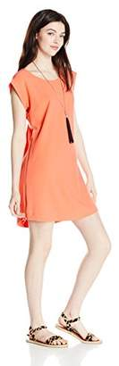 My Michelle Women's Tee Shirt Dress With Necklace