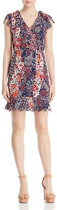 MICHAEL Michael Kors Mixed Floral-Print Scalloped Dress
