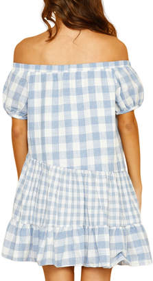 STYLEKEEPERS Santorini Off-the-Shoulder Gingham Dress
