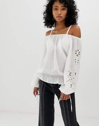 Pepe Jeans Jasmine off shoulder blouse