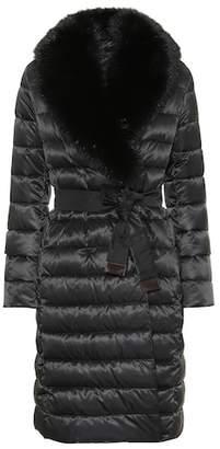 Max Mara S Novedop fur-trimmed down coat