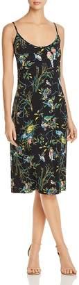 Leota Sienna Bird-Print Slip Dress