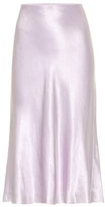 f3f811052d8d Purple Satin Skirt - ShopStyle