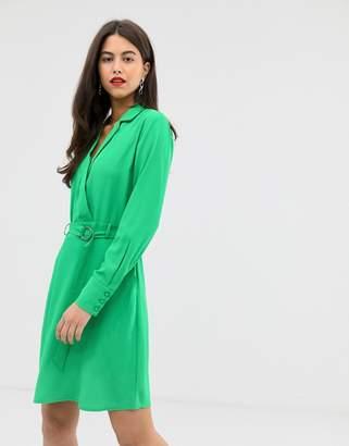 Vila belted tux dress