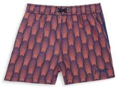 Little Boy's Deco-Print Swim Shorts
