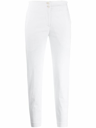 Isabel Benenato cropped slim fit trousers