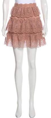 Self-Portrait Mini Tiered Skirt