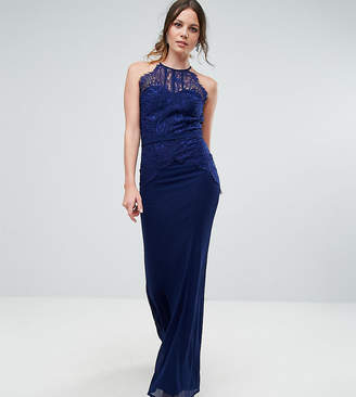 Little Mistress Tall All Over Lace Top Fishtail Maxi Dress