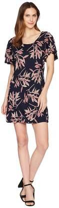Lucky Brand Printed Ruffle Dress Women's Dress