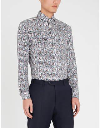 Eton Super slim-fit floral-print cotton shirt