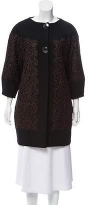 Blumarine Lace-Accented Lightweight Jacket