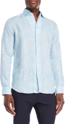Bogosse Floral Printed Linen Shirt