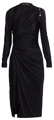 Versace Women's Viscose Jersey Cutout Front Slit Dress